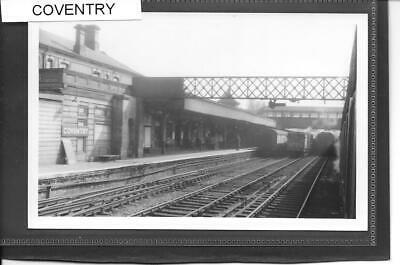 COVENTRY RAILWAY STATION - 1957 IMAGE - QUALITY PRINT IN SLEEVE -  # S723